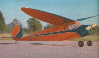 1938 Comet Clipper model airplane plan