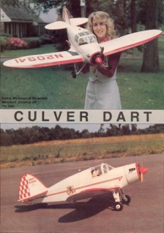Culver Dart model airplane plan