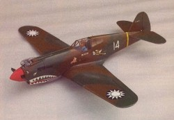 Curtiss P-40B Tomahawk model airplane plan