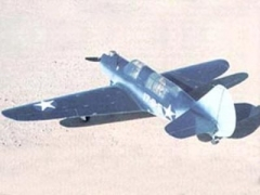 Curtiss SB2C-1 Helldiver model airplane plan