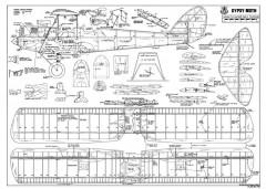DH Gypsy Moth model airplane plan
