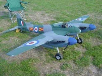 De Havilland DH 103 Hornet model airplane plan