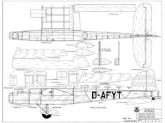 Dornier Do-23 Sports Scale model airplane plan