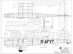 Dornier Do 23 model airplane plan