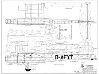 Dornier Do 23 model airplane plan
