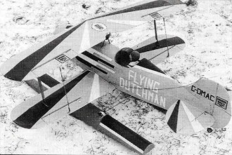 Double Dutch model airplane plan