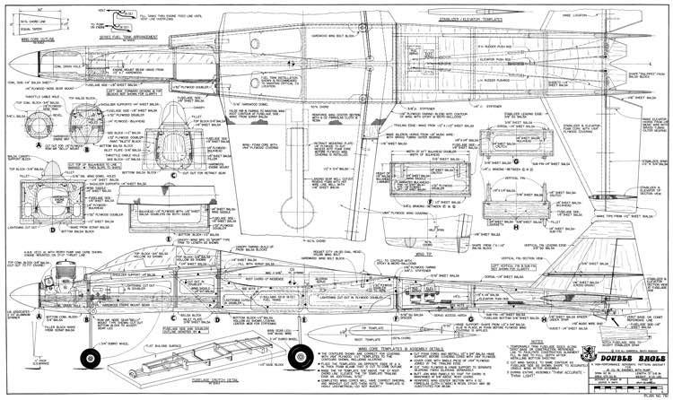 Double Eagle model airplane plan