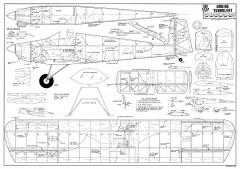 Druine Turbulent-RCM-09-77 701 model airplane plan