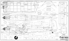 Druine Turbulent model airplane plan