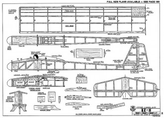 EZ II-RCM-08-77 695 model airplane plan