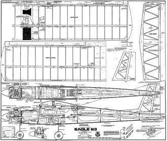 Eagle 63 Trainer model airplane plan