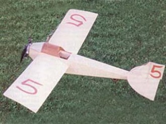 Eastbourne Monoplane 1913 model airplane plan