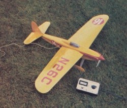 Electric Shoestring model airplane plan