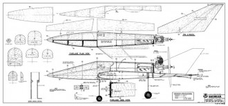 Enforcer model airplane plan
