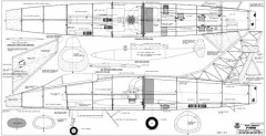 F-100D Super Sabre model airplane plan
