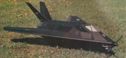 F-117A model airplane plan