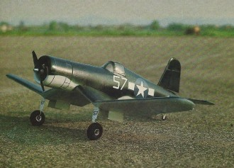 F4U-1D Corsair model airplane plan