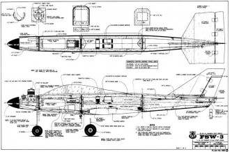 FSW-3 model airplane plan