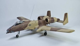 Fairchild A-10 Thunderbolt-Warthog model airplane plan