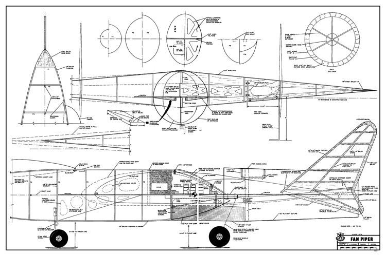 Fan Piper model airplane plan