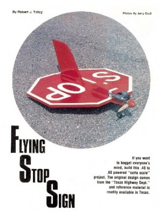 Flying Stop Sign model airplane plan