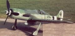 Focke Wulf 190D-9 model airplane plan