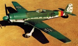 Focke Wulf TA 152 H-1 model airplane plan