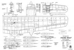 Focke Wulf Ta-154 model airplane plan