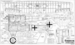 Fokker D8 56in model airplane plan
