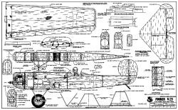 Fokker V.23 model airplane plan