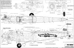 Ford Trimotor 75in model airplane plan