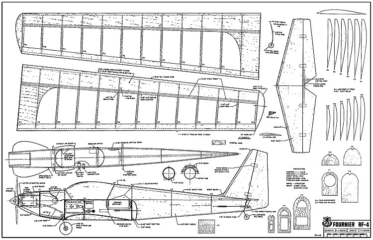 Fournier RF-4 model airplane plan