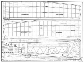 Gentle Lady RCM-791 model airplane plan
