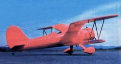 Gull Wing Bipe model airplane plan