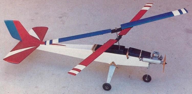 Gyro Falcon model airplane plan