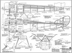 Hanriot Dupont HD-1 model airplane plan
