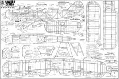 Hawker Demon model airplane plan