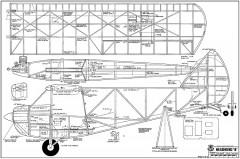 Headwind B model airplane plan