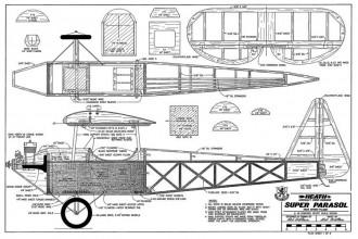 Heath Super Parasol model airplane plan