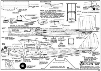Honker Bipe model airplane plan