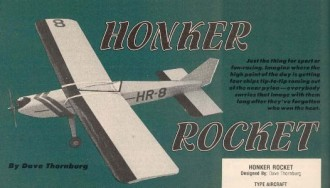Honker Rocket model airplane plan