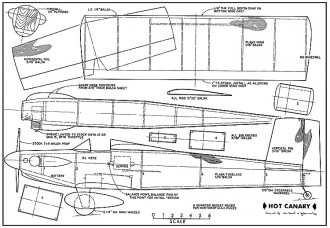 Hot Canary Plan 9012 model airplane plan