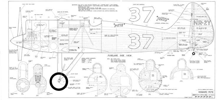 Howard Pete 80in model airplane plan
