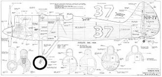 Howard Pete 1350mm Wing Span model airplane plan