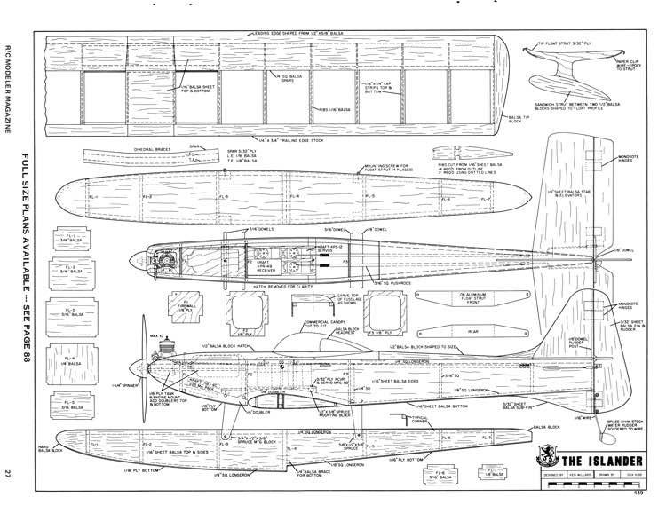 Islander-RCM-08-70 model airplane plan