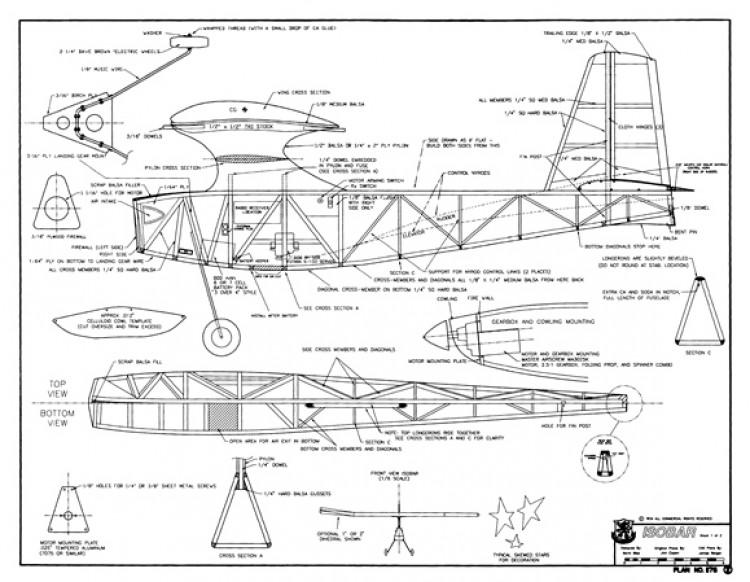 Isobar model airplane plan