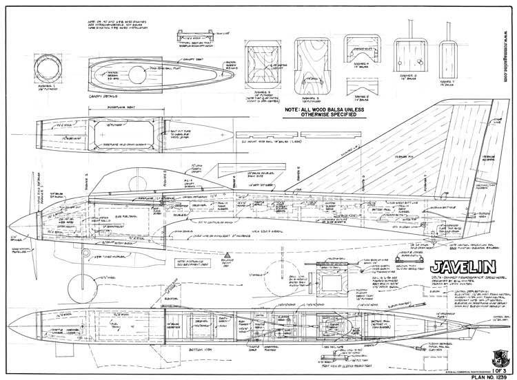Javelin model airplane plan