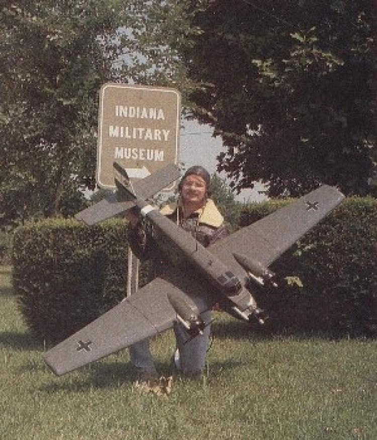 Junkers JU52-3M model airplane plan