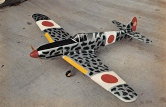 Kawasaki Tony Hien model airplane plan