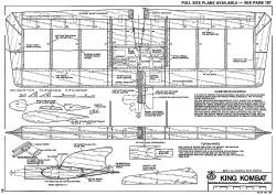 King Kombat-RCM-07-79 769 model airplane plan